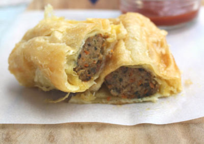 Gourmet Beef Sausage Rolls by Blue Pear Pantry
